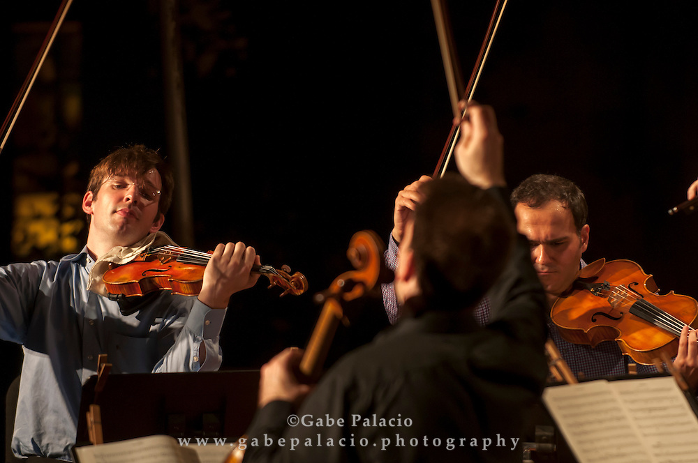 Caramoor Virtuosi perform in the Spanish Courtyard at Caramoor in Katonah New York.photo by Gabe Palacio