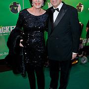 NLD/Scheveningen/20111106 - Premiere musical Wicked, Eelco Brinkman en partner Janneke Salentijn
