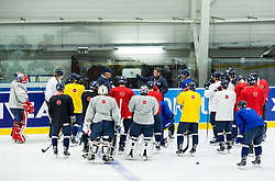 Vladimir Vujtek, head coach and his assistant with players during practice session of Slovakia Ice Hockey National Team at Day 4 of 2015 IIHF World Championship, on May 4, 2015 in Practice arena Vitkovice, Ostrava, Czech Republic. Photo by Vid Ponikvar / Sportida