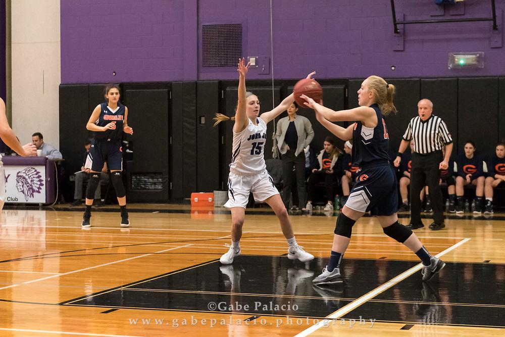 John Jay Girls Varsity Basketball game  on January 3, 2018. (photo by Gabe Palacio)