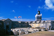 Old San Juan, Puerto Rico: El Morro fortress and lighthouse, San Juan National Historic Site.