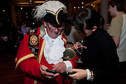 PETER MOORE; TOWN CRIER; LAURA K. JONES VIP. Very Important Pest opening  party. Pestival. South Bank. 4 September 2009