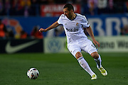 MADRID, SPAIN - APRIL 27: Karim Benzema of Real Madrid CF in action during the Liga BBVA between Club Atletico de Madrid and Real Madrid CF at the Vicente Calderon stadium on April 27, 2013 in Madrid, Spain. (Photo by Aitor Alcalde Colomer).