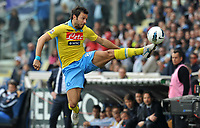 "Andrea DOSSENA (Napoli) <br /> Parma 04/03/2012 Stadio ""Ennio Tardini""<br /> Serie A 2011/2012<br /> Football Calcio Parma Vs Napoli<br /> Foto Insidefoto Alessandro Sabattini"