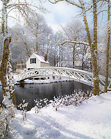 This iconic bridge is an inspiration for many artists from around the world. I captured it after a fresh snow, just as the sun was coming out. It's a beautiful spot, for sure.