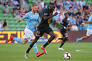 MELBOURNE, VIC - JANUARY 22: Western Sydney Wanderers forward Abraham Majok (49) runs the ball at the Hyundai A-League Round 15 soccer match between Melbourne City FC and Western Sydney Wanderers at AAMI Park in VIC, Australia 22 January 2019. Image by (Speed Media/Icon Sportswire)