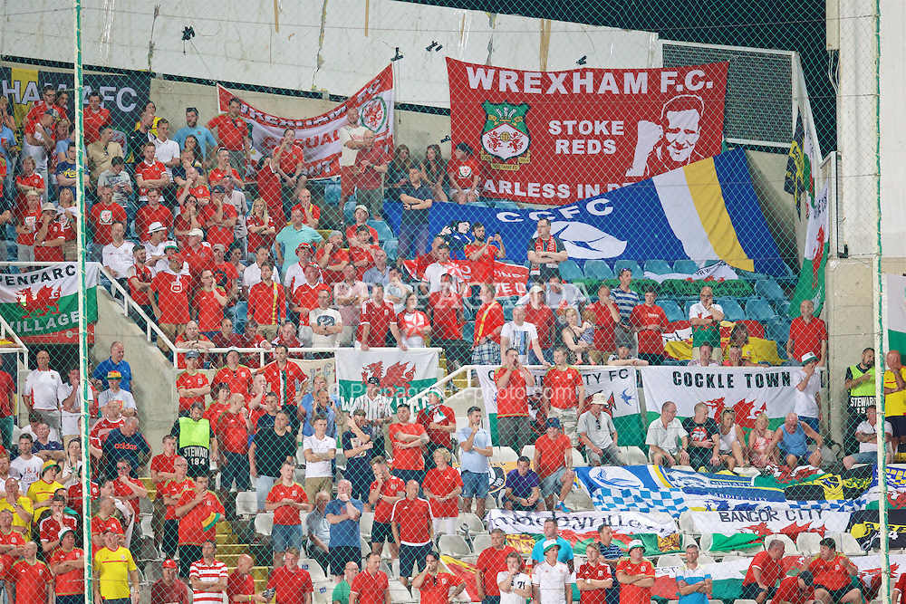NICOSIA, CYPRUS - Thursday, September 3, 2015: Wales supporters during the UEFA Euro 2016 qualifying match against Cyprus at the GPS Stadium. (Pic by David Rawcliffe/Propaganda)