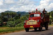 Truck near Candelaria, Artemisa Province, Cuba.
