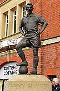 The late Johnny Haynes statue before the EFL Sky Bet Championship match between Fulham and Aston Villa at Craven Cottage, London, England on 17 April 2017. Photo by Jon Bromley.