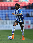 Wigan Athletic defender Gaetan Bong during the Sky Bet Championship match between Wigan Athletic and Brighton and Hove Albion at the DW Stadium, Wigan, England on 18 April 2015.