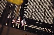 """The Traveling Vietnam Veterans Memorial, the """"Traveling Wall"""", during its visit to Petoskey, Michigan."""