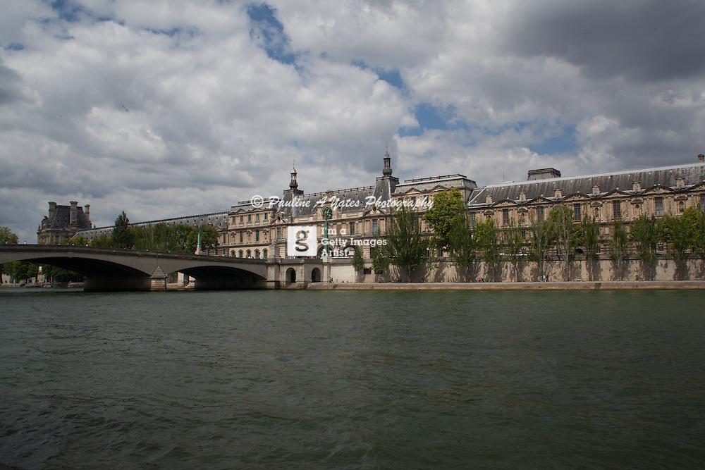 A view across The Seine to The Louvre Palace, home of The Louvre Museum