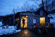 Maple producer Dan Crocker of Sidelands Sugarbush in Westminster West, Vermont