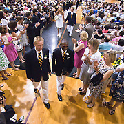 060411 Wilmington DE: Tatnall High School students leaving graduation ceremony Saturday, June 4, 2011 at Tatnall, Beekley Gymnasium In Wilmington Delaware...Special to The News Journal/SAQUAN STIMPSON
