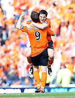 Fotball<br /> Skottland<br /> Foto: Colorsport/Digitalsport<br /> NORWAY ONLY<br /> <br /> Football - Scottish FA Cup Final - Dundee United vs. Ross County 15.05.2010<br /> <br /> Dundee United's double goal scorer  Craig Conway celebrates at the end of the  3-0 win over Ross County