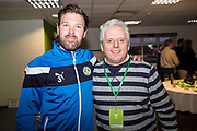 Player sponsors Forest Green Rovers Scott Laird(3) during the EFL Sky Bet League 2 match between Forest Green Rovers and Crawley Town at the New Lawn, Forest Green, United Kingdom on 24 February 2018. Picture by Shane Healey.