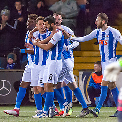 Kilmarnock celebrations for 1-0 - Kilmarnock v Dundee - Ladbrokes Premiership - 13 February 2018 - © Russel Hutcheson | SportPix.org.uk