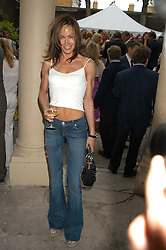 TARA PALMER-TOMKINSON at the Tatler Summer Party in association with Moschino at Home House, 20 Portman Square, London W1 on 29th June 2005.<br /><br />NON EXCLUSIVE - WORLD RIGHTS