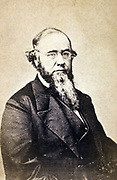 Edwin M Stanton (1814-1869) American politician and lawyer, 25th US Attorney General 1860-1861. During American Civil War served as Secretary of State for War 1862-1865 under Lincoln. Half-length portrait, seated.