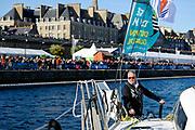 Christian Guyader during the Route du Rhum 2018, on November 3rd, in Saint Malo, France, before the Route du Rhum sailing race to start on November 4th 2018 - Photo François Van Malleghem / ProSportsImages / DPPI