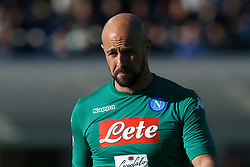 January 21, 2018 - Bergamo, Italy - Pepe Reina of Napoli  during the Italian Serie A football match Atalanta Vs Napoli on January 21, 2018 at the 'Atleti Azzurri d'Italia Stadium' in Bergamo. (Credit Image: © Matteo Ciambelli/NurPhoto via ZUMA Press)
