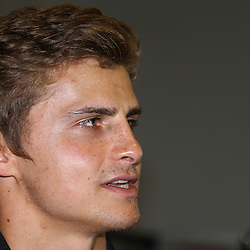 DURBAN, SOUTH AFRICA, Wednesday 13, January 2016 - Patrick Lambie during The Cell C Sharks Pre Season Press Con Wednesday 13th January 2016,for the 2016 Super Rugby Season at Growthpoint Kings Park in Durban, South Africa. (Photo by Steve Haag)<br /> images for social media must have consent from Steve Haag