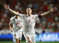 Fotball<br /> 08.09.2007<br /> EM-kvalifisering<br /> Portugal v Polen<br /> Foto: Wrofoto/Digitalsport<br /> NORWAY ONLY<br /> <br /> Jubel von Jacek Krzynowek (POL)