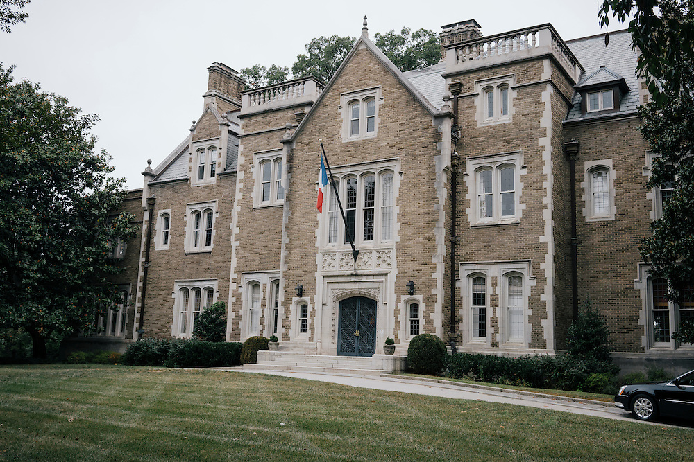 Exterior of French Ambassador's residence in the Kalorama neighborhood of Washington D.C. France acquired the residence in 1936.