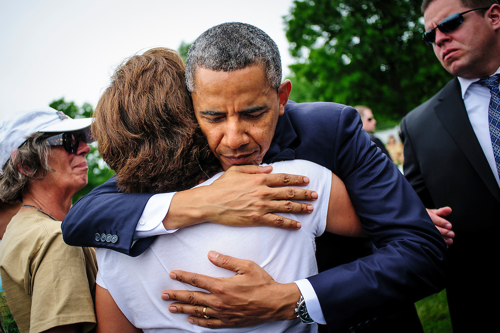 President Barack Obama greets mourners during a Memorial Day visit to Arlington National Cemetery in Arlington Virginia, USA on 27 May, 2013.