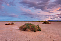 Clearing evening storm over Clark Dry Lake, Anza_borrego Desert State Park California