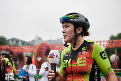 Post race interviews for winner, Chloe Hosking (AUS) at GREE Tour of Guangxi Women's WorldTour 2019 a 145.8 km road race in Guilin, China on October 22, 2019. Photo by Sean Robinson/velofocus.com