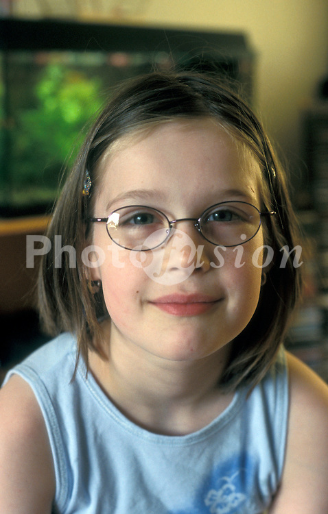 Girl wearing glasses UK