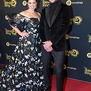 NLD/Amsterdam/20191009 - Uitreiking Gouden Televizier Ring Gala 2019, Roos Moggre en partner Donatello Piras