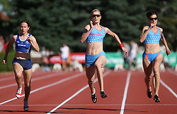 Tina Murn, Pia Tajnikar and Kristina Zumer at Athletic National Championship of Slovenia, on July 19, 2008, in Stadium Poljane, Maribor, Slovenia. (Photo by Vid Ponikvar / Sportal Images).
