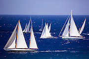 Sumurun, Peter Von Seestermuhe, and Carl Linne sailing in the Antigua Classic Yacht Regatta, Windward Race.