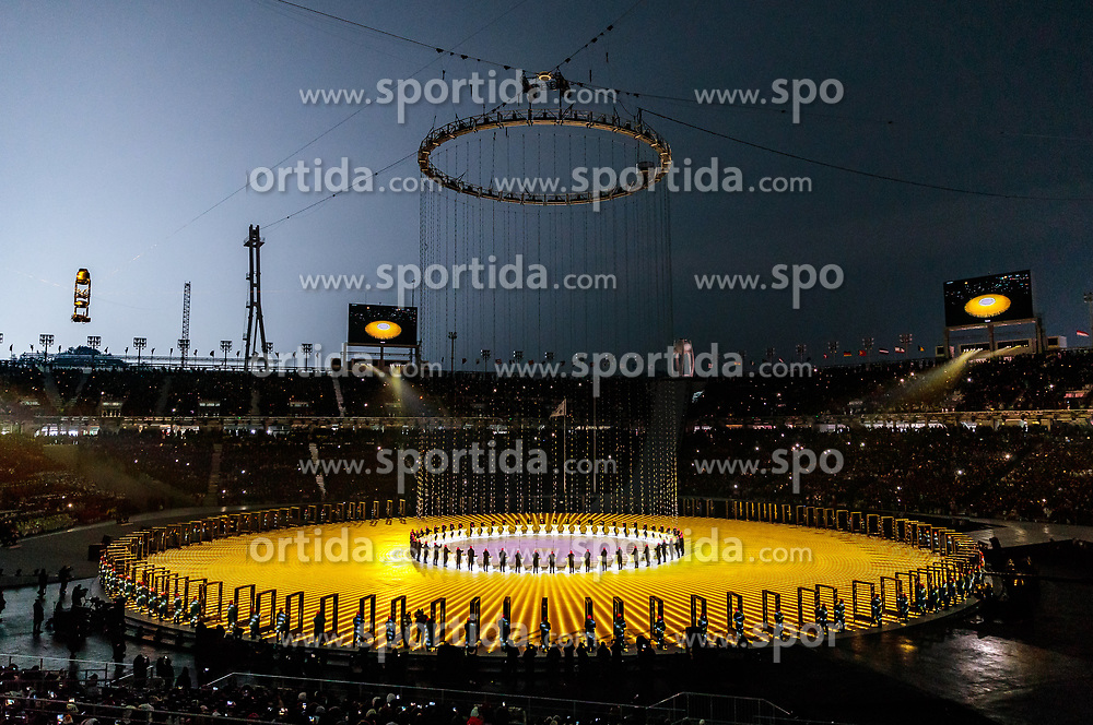 09.02.2018, Olympic Stadium, Pyeongchang, KOR, PyeongChang 2018, Eröffnungsfeier, im Bild Uebersicht Choreografie // a general view choreography during the Opening Ceremony of the Pyeongchang 2018 Winter Olympic Games at the Olympic Stadium in Pyeongchang, South Korea on 2018/02/09. EXPA Pictures © 2018, PhotoCredit: EXPA/ Johann Groder