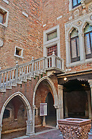 Details of a Palazzo courtyard in Venice, Italy