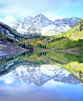 Sometimes I only visit a place one time and I make sure to get a perfect picture that shows the best of the area like in this photo of Maroon Bells reflecting in Maroon Lake in the Rocky Mountains of Colorado.