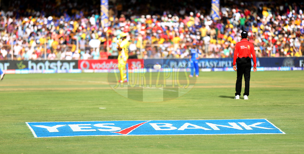 Ahemdabad brandings during match 15 of the Pepsi IPL 2015 (Indian Premier League) between The Rajasthan Royals and The Chennai Superkings held at the Sardar Patel Stadium in Ahmedabad , India on the 19th April 2015.<br /> <br /> Photo by:  Sandeep Shetty / SPORTZPICS / IPL