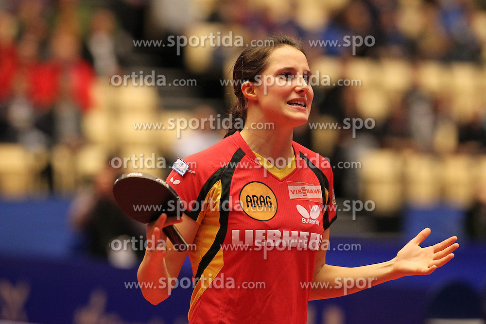20.10.2012, MGH Arena, Herning, DEN, ETTU, Tischtennis Europameisterschaft, im Bild Sabine WINTER (GER) ist enttaeuscht ueber einen Punktverlust. // during the Table Tennis European Championships at the MGH Arena, Herning, Denmark on 2012/10/20. EXPA Pictures © 2012, PhotoCredit: EXPA/ Eibner/ Wuest **** ATTENTION - OUT OF GER *****