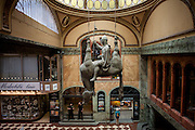"""Lucerna Passage - in the middle the """"Dead Horse"""" which is a sculpture from Czech sculptor and contemporary artist David Cerny. It is a parody of the statue of St. Wenceslas on Wenceslas square some 200 meters away. It can be found in the passage Lucerna Kavarna."""