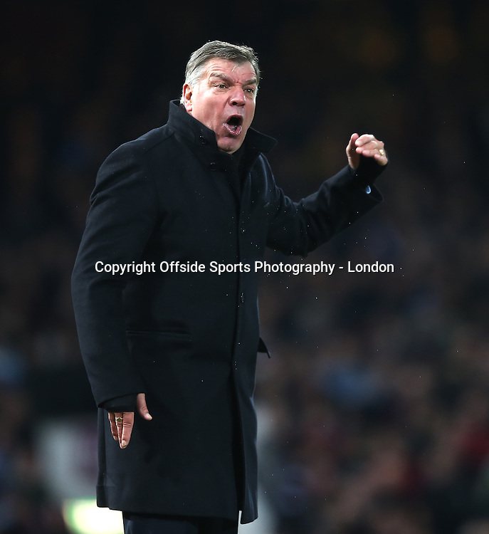 28 December 2014 Premier League Football - West Ham United v Arsenal; Frustration for West Ham manager Sam Allardyce.<br /> <br /> Photo: Mark Leech
