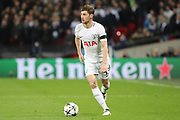 Ben Davies of Tottenham Hotspur (33) dribbling during the Champions League match between Tottenham Hotspur and Juventus FC at Wembley Stadium, London, England on 7 March 2018. Picture by Matthew Redman.