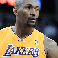 04 October 2010: Los Angeles Lakers forward Ron Artest is seen during the Minnesota Timberwolves 111-92 victory over the Los Angeles Lakers, during 2010 NBA Europe Live, at the O2 Arena in London, England.