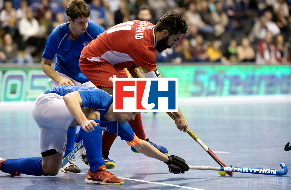 BERLIN - Indoor Hockey World Cup<br /> Quarterfinal 1: Iran - Czech Republic<br /> foto: BEIRANVAND Behdad.<br /> WORLDSPORTPICS COPYRIGHT FRANK UIJLENBROEK