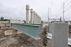 Bridge Steel, Foundation & Piers, Construction Progress Photography of the Railroad Station at Fairfield Metro Center - Site visit 13 of once per month Chronological Documentation.
