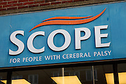 Scope charity shop for people with cerebal palsy. High street shops and shopping,  January 2009, Lowestoft, Suffolk, England