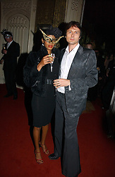 Musician BRETT ANDERSON and girlfriend SANTUCIA CHAN-JON-CHU at the 2006 Moet & Chandon Fashion Tribute in honour of photographer Nick Knight, held at Strawberry Hill House, Twickenham, Middlesex on 24th October 2006.<br />