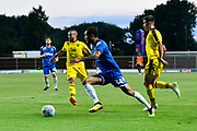 Lewis Baker (34) of Leeds United on the attack during the Pre-Season Friendly match between Oxford United and Leeds United at the Kassam Stadium, Oxford, England on 24 July 2018. Picture by Graham Hunt.