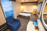 Royal Caribbean International launches Quantum of the Seas, the newest ship in the fleet, in November 2014<br /> <br /> Interior Stateroom with virtual balcony.